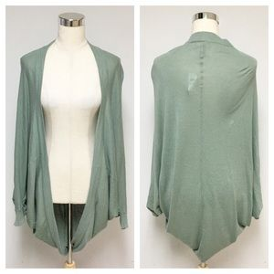 NWT Olive Green Light Weigh Cocoon Cardigan 10G